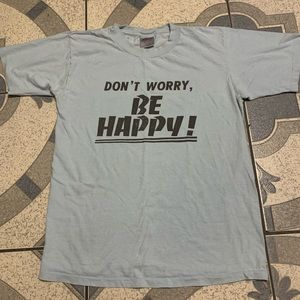 Vintage Single-Stitched Don't Worry Be Happy Tee L